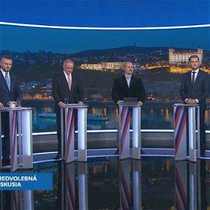 Voľby 2020: Andrej Kiska, Marian Kotleba, Peter Pellegrini, Michal Truban a Igor Matovič